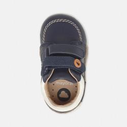 Pantofi piele Melania bleu-marin
