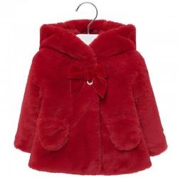 Palton fete imblanit MAYORAL 2429M fata rosu