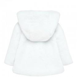 Palton fete imblanit MAYORAL 2429M funda spate alb