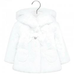 Palton fete imblanit MAYORAL 2429M fata alb