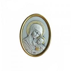 Iconita banut argintata cu magnet 3,5 cm