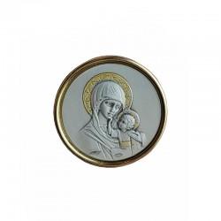 Iconita banut argintata cu magnet 3 cm